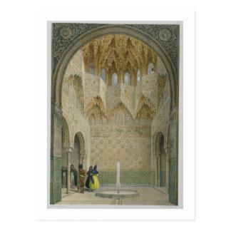 Abencerragesのホール、アルハンブラ、Granad ポストカード