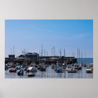 Aberaeron港- 2010年6月8日 ポスター