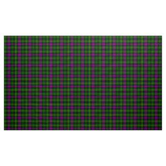 Abercrombieのタータンチェックの紫色および緑の格子縞の生地 ファブリック