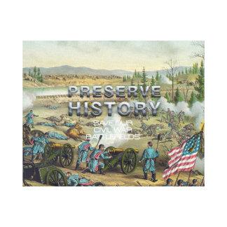 ABHの内戦の戦場の保存 キャンバスプリント