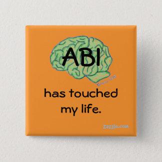ABIの認識度ボタン 5.1CM 正方形バッジ