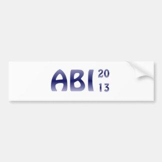 ABI 2013年 バンパーステッカー