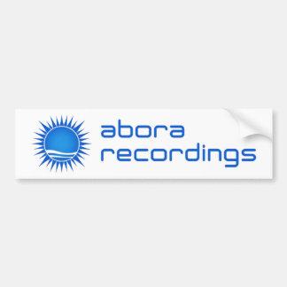 Aboraの録音のバンパーステッカー(青い) バンパーステッカー