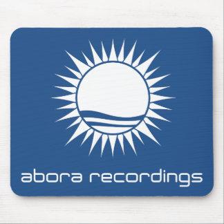 Aboraの録音の白青いマウスパッド マウスパッド