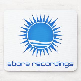 Aboraの録音の青白のマウスパッド マウスパッド