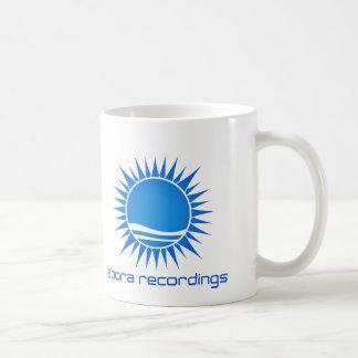 Aboraの録音の青白のマグ コーヒーマグカップ
