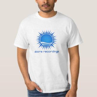 Aboraの録音の青白のTシャツ Tシャツ