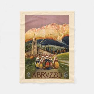 Abrvzzoイタリアのヴィンテージ旅行フリースブランケット フリースブランケット