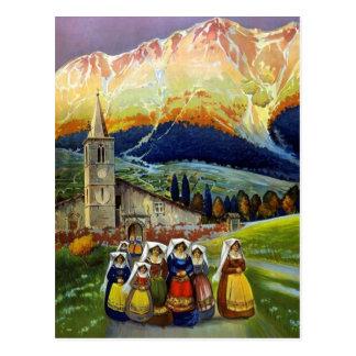 Abrvzzoイタリアのヴィンテージ旅行 ポストカード