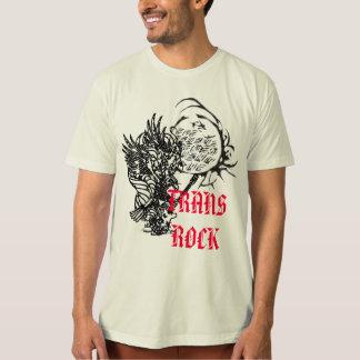 ABS sinar tulisan 5のburungのgitarコピー、TRANSの石 Tシャツ