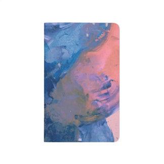 Abstactの芸術のポケットジャーナル-青いピンクのモダン ポケットジャーナル