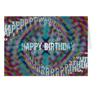 Abstactの誕生日の錯覚 カード