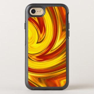 abstract fiery swirl gold red orange オッターボックスシンメトリーiPhone 8/7 ケース