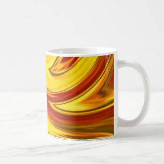 abstract fiery swirl gold red orange コーヒーマグカップ