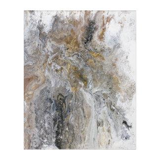 Abstract Painting Gray Black Gold White Artwork アクリルウォールアート