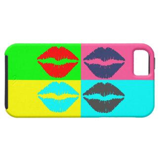 Abtractの芸術のカラフルの唇 iPhone SE/5/5s ケース