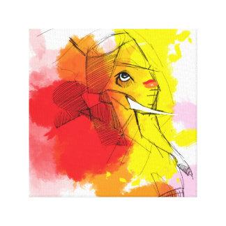 abtractのGaneshaの絵画 キャンバスプリント