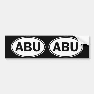 ABU楕円形ID バンパーステッカー