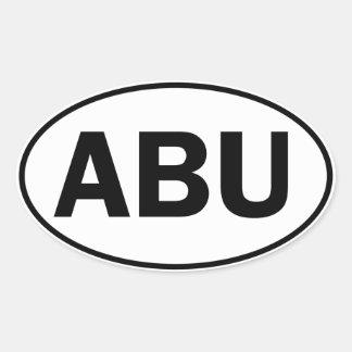 ABU楕円形ID 楕円形シール