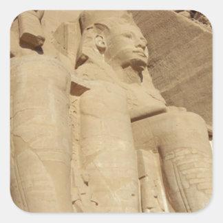 Abu Simbelの寺院エジプト スクエアシール