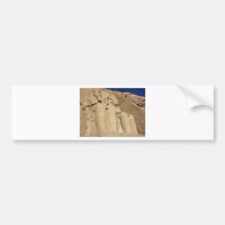 Abu Simbelの寺院エジプト バンパーステッカー