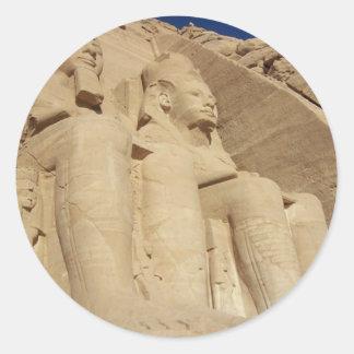 Abu Simbelの寺院エジプト ラウンドシール