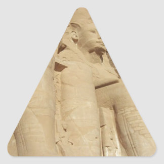 Abu Simbelの寺院エジプト 三角形シール