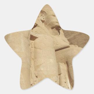 Abu Simbelの寺院エジプト 星シール
