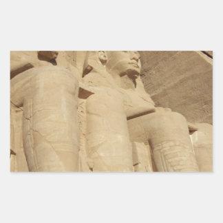 Abu Simbelの寺院エジプト 長方形シール