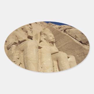 Abu Simbelの寺院 楕円形シール