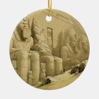 "Abu Simbel、""エジプトからのNubiaの素晴らしい寺院、 セラミックオーナメント"