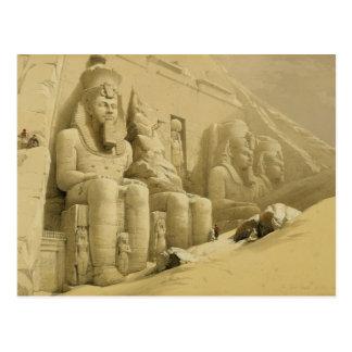 """Abu Simbel、""""エジプトからのNubiaの素晴らしい寺院、 ポストカード"""