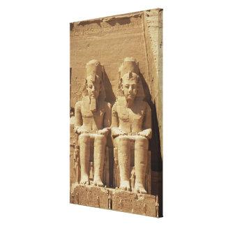 Abu Simbel -カイロ、エジプトの彫刻 キャンバスプリント