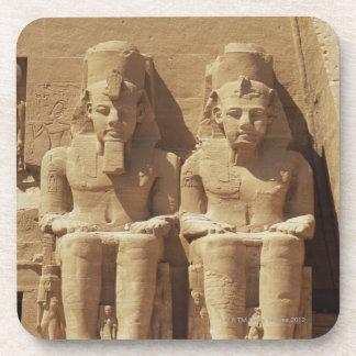 Abu Simbel -カイロ、エジプトの彫刻 コースター