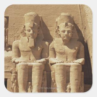 Abu Simbel -カイロ、エジプトの彫刻 スクエアシール