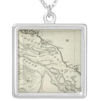Abyssiniaの地図 シルバープレートネックレス
