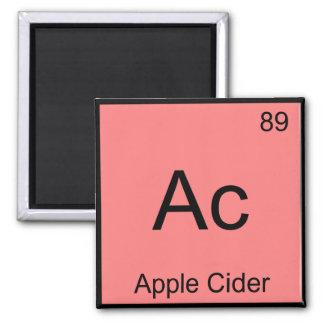 AC -アップルサイダー化学要素の記号のTシャツ マグネット