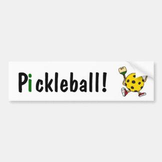 AC Pickleballのおもしろいなキャラクター バンパーステッカー