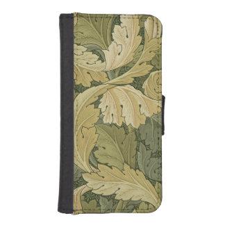 Acanthusまたは森林色、1のデザインの壁紙を張って下さい iPhoneSE/5/5sウォレットケース
