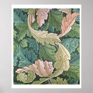 「Acanthus」の壁紙のデザイン1875年 ポスター