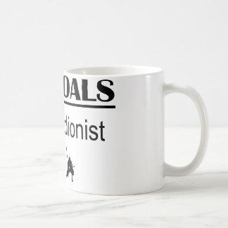 Accordionistの忍者の生命ゴール コーヒーマグカップ