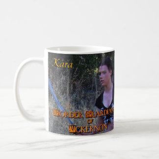 AckernonのキャラクターのマグKaraのボーダー保護者 コーヒーマグカップ