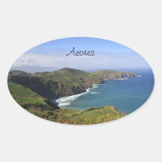 Açoresかアゾレスのステッカー 楕円形シール