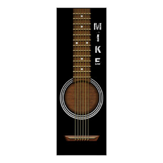 ACOUSITIC GUITAR 12 X 36 POSTER BANNER ポスター