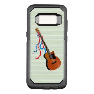 Acouticのベースギターのアメリカ人音楽 オッターボックスコミューターSamsung Galaxy S8 ケース