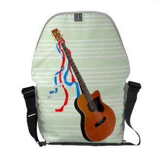 Acouticのベースギターのアメリカ人音楽 メッセンジャーバッグ