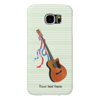 Acouticのベースギターの絵 Samsung Galaxy S6 ケース