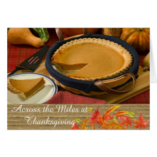 Across The Miles Thanksgiving Greeting Card カード