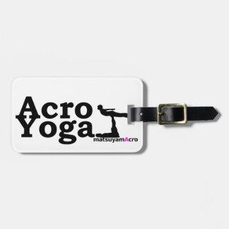 AcroYoga simple logo/アクロヨガ シンプル ロゴ ラゲッジタグ
