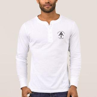 Activizeの運動競技のキャンバスのHenleyの長袖 Tシャツ